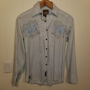 Roar mens medium button down shirt
